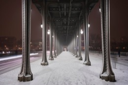Bir-Hakeim;France;Hiver;Kaleidos;Kaleidos-images;Neige;Paris;Snow;Tarek-Charara;Winter