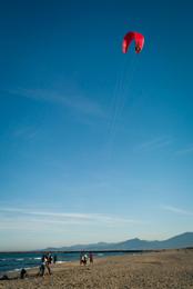 Beach,-Beaches,-Blue,Kaleidos,-Kaleidos-images,-Kites,-Landscapes,-Mediterranean,-Mediterranean-Sea,-Sea,-Tarek-Charara,Red